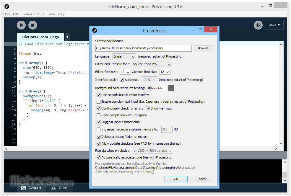 Processing 3.3.7 (32-bit) Screenshot 5