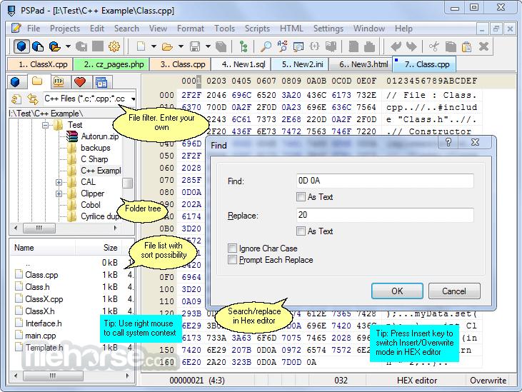 PSPad 5.0.0 Build 277 Captura de Pantalla 3