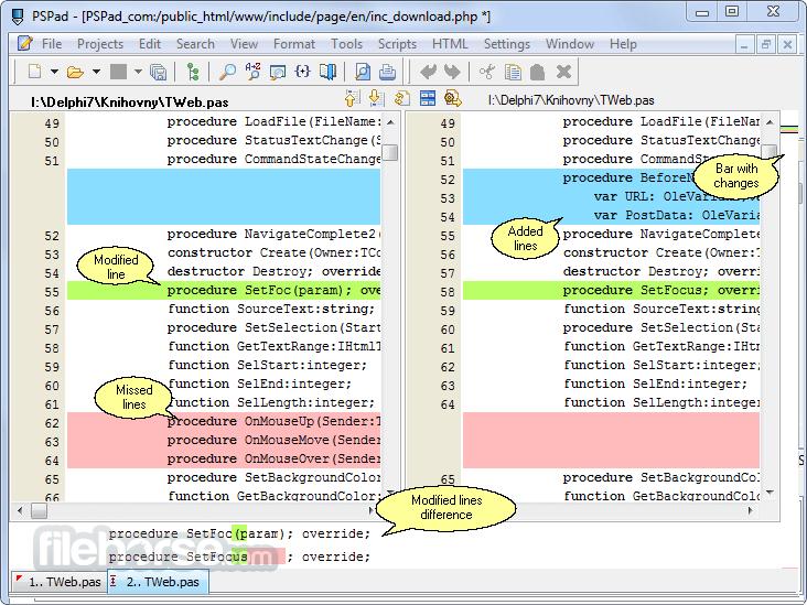 PSPad 5.0.0 Build 277 Captura de Pantalla 4