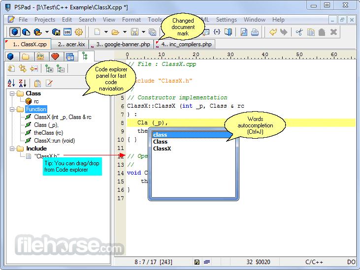 PSPad 5.0.0 Build 277 Captura de Pantalla 5