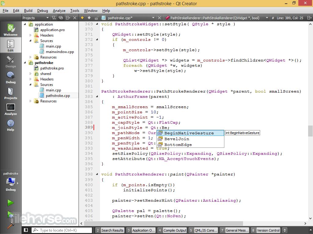 Qt Creator 4.5.0 (32-bit) Screenshot 1