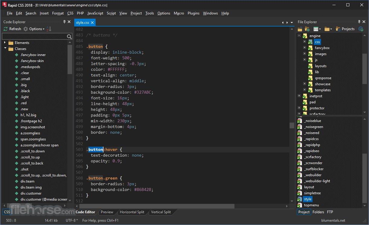 Rapid CSS 2018 15.1.0.203 Screenshot 2