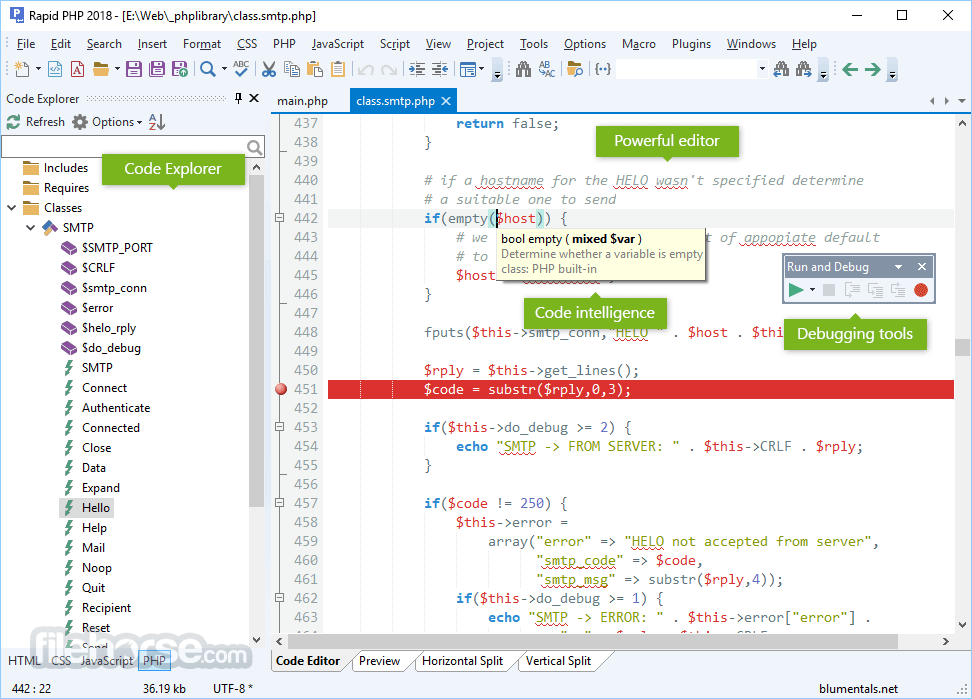 Rapid PHP Editor 2018 15.3.0.205 Screenshot 1