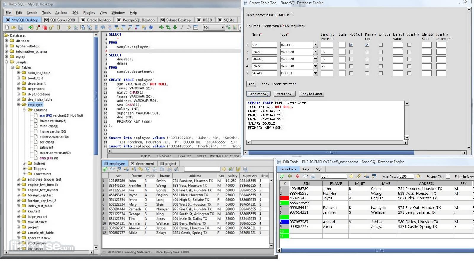 RazorSQL 9.3.2 (32-bit) Screenshot 1