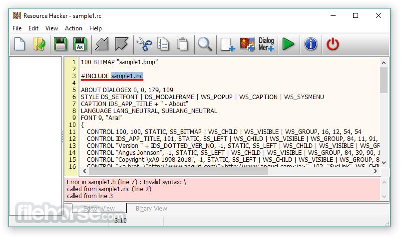 Resource Hacker 5.1.7 Build 343 Screenshot 2