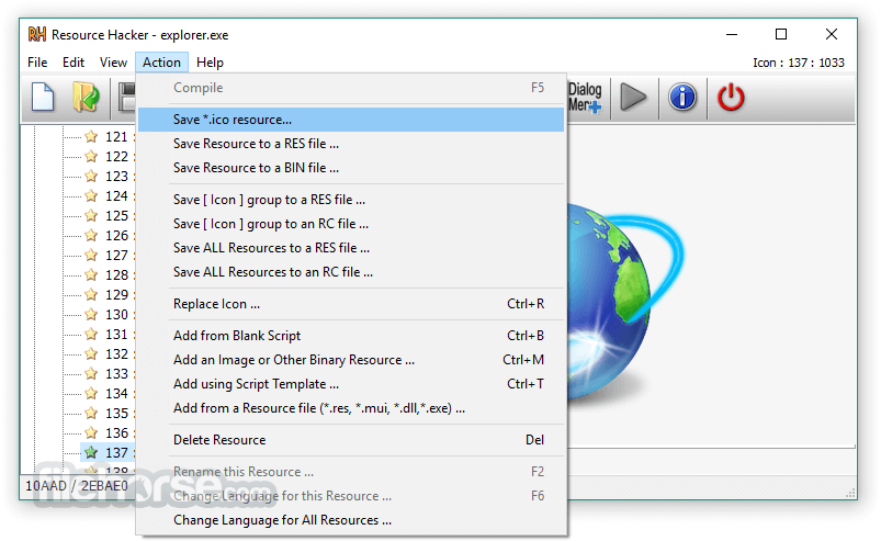 Resource Hacker 5.1.7 Build 343 Screenshot 5
