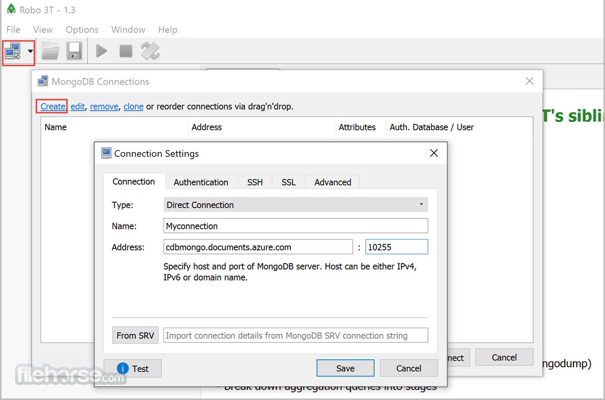 Robo 3T 1.4.4 Screenshot 1