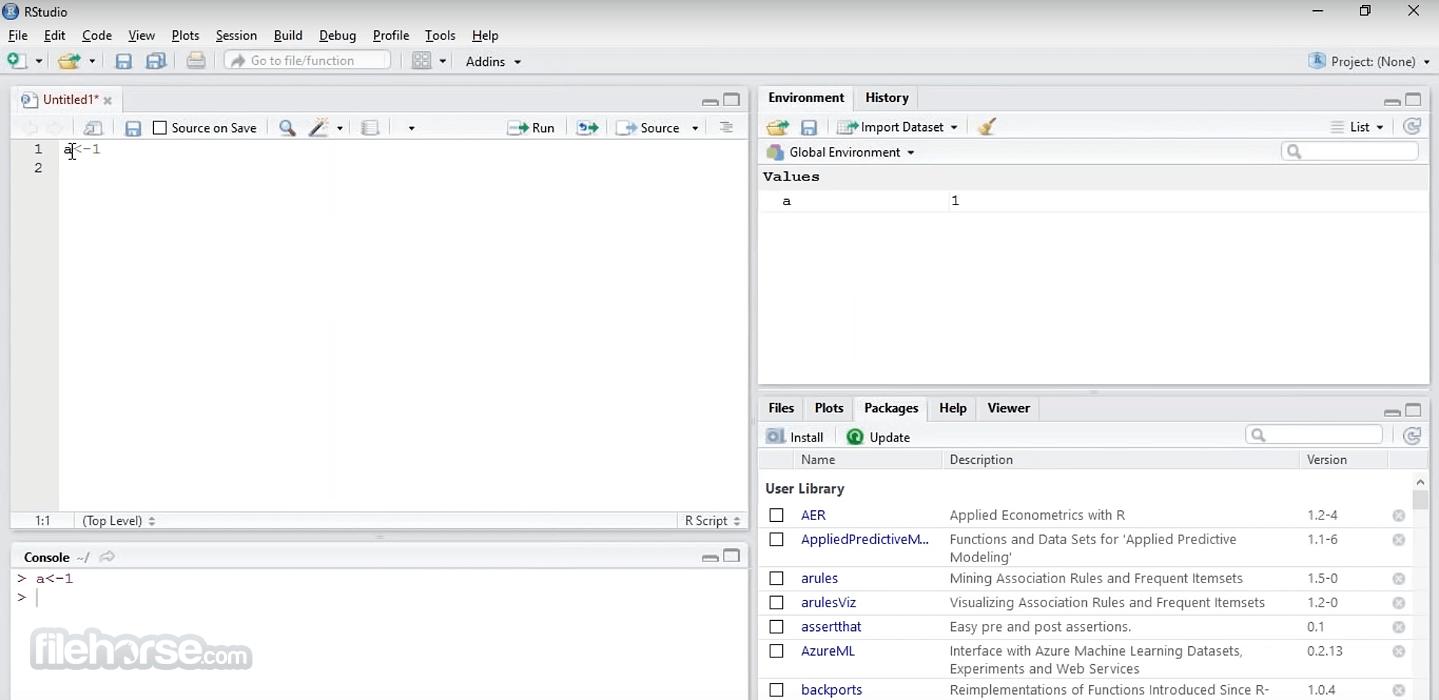 RStudio 1.4.1717 Screenshot 1