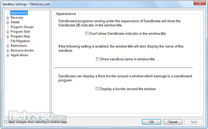 Sandboxie 5.33.6 Screenshot 4