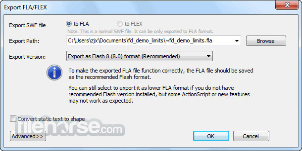 Sothink SWF Decompiler 7.4 Build 5320 Screenshot 4