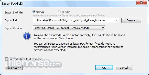Sothink SWF Decompiler 7.4 Build 5320 Screenshot 4