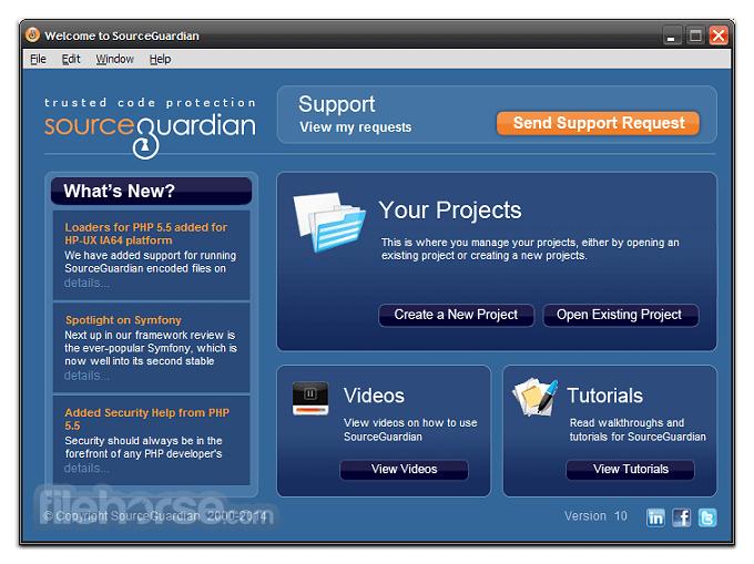 SourceGuardian 11.4 Screenshot 1