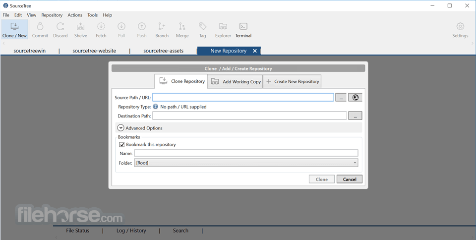 SourceTree 2.4.7.0 Captura de Pantalla 4