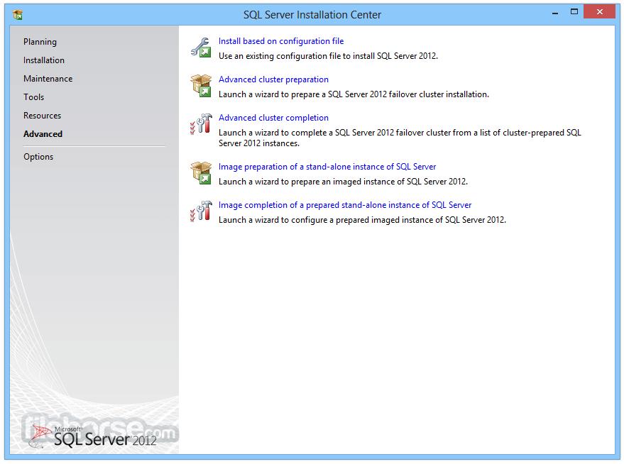 SQL Server 2012 Express Captura de Pantalla 5