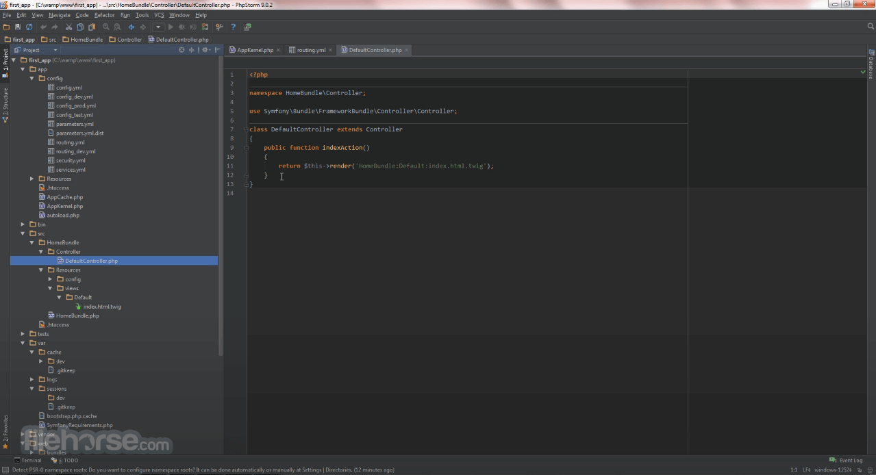 Symfony 5.2.1 Screenshot 1