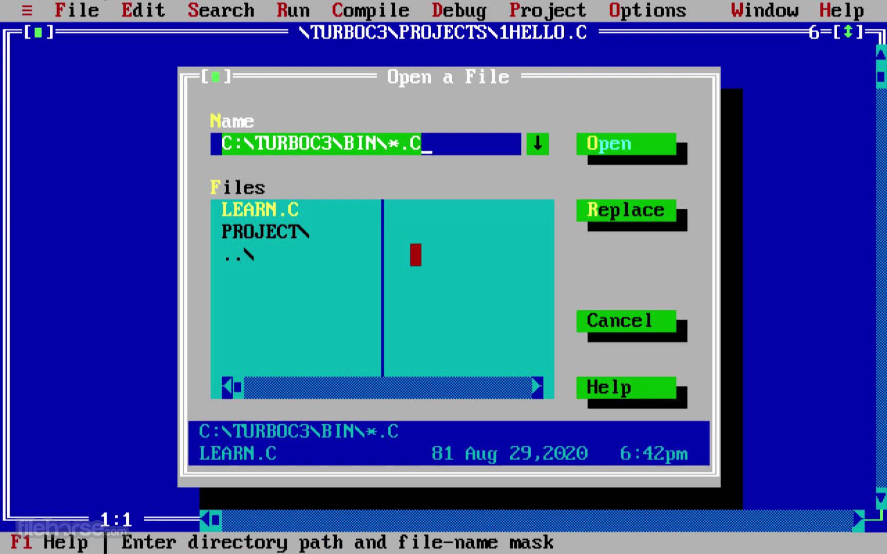 Turbo C++ 3.7.8.9 Screenshot 2
