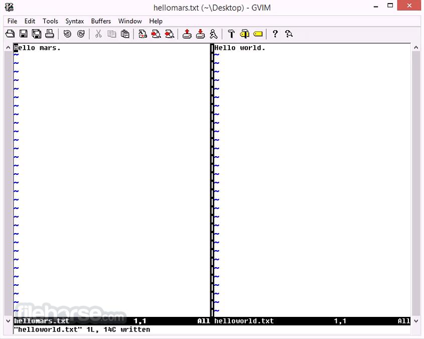 Vim 8.2 Captura de Pantalla 2