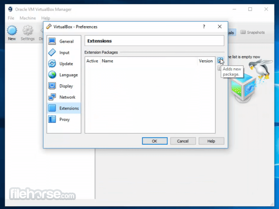 VirtualBox Extension Pack 5.1.26 Build 117224 Captura de Pantalla 1