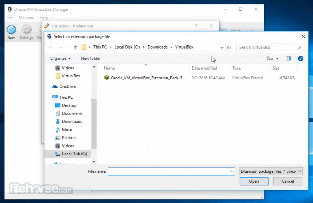 VirtualBox Extension Pack 5.1.26 Build 117224 Captura de Pantalla 2