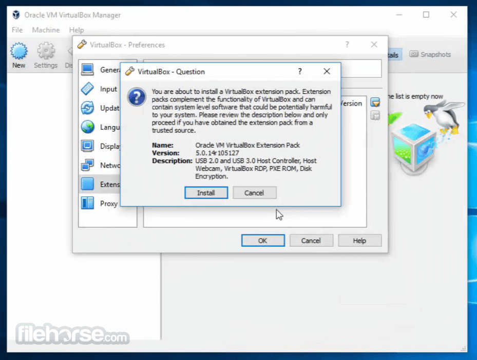 VirtualBox Extension Pack 5.1.26 Build 117224 Captura de Pantalla 3