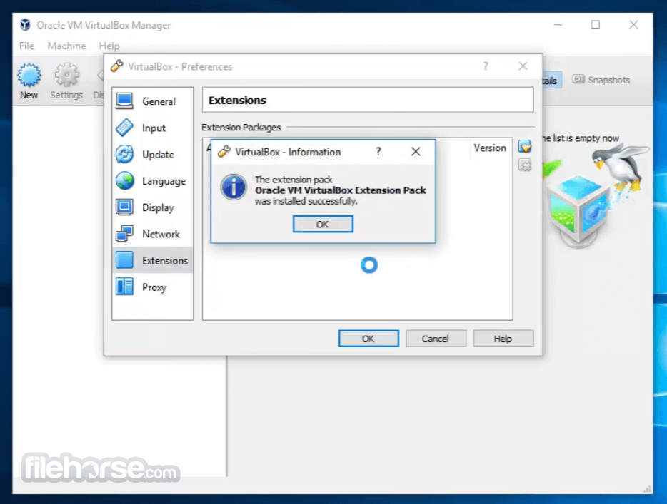 VirtualBox Extension Pack 5.1.26 Build 117224 Captura de Pantalla 4