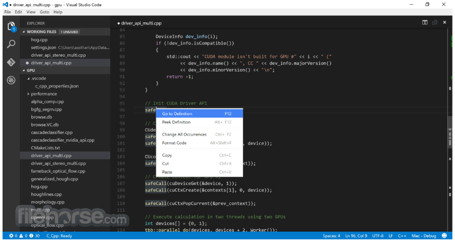 Visual Studio Code 1.28.2 Captura de Pantalla 3