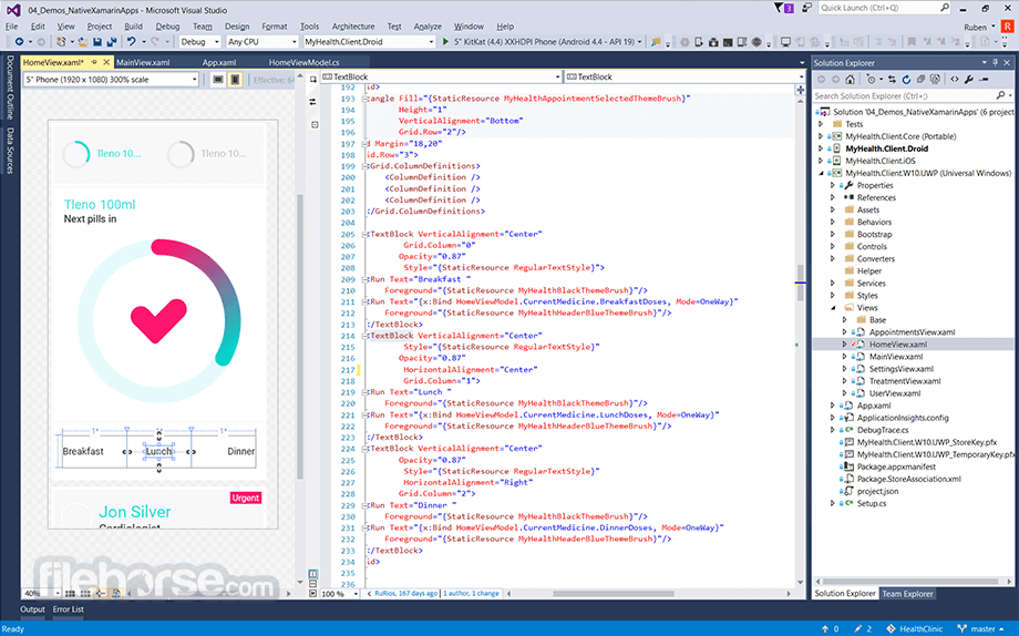 Visual Studio Community 2017 15.0.26430.16 Captura de Pantalla 1