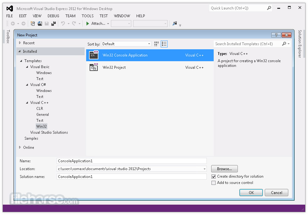 Visual Studio Express 2015 Captura de Pantalla 1