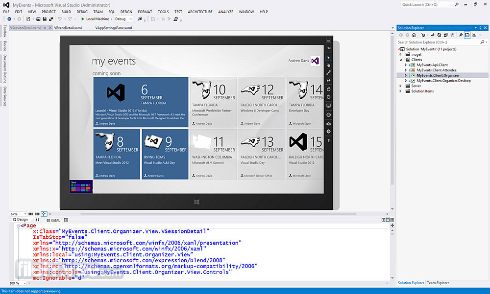 Visual Studio Express 2015 Captura de Pantalla 2