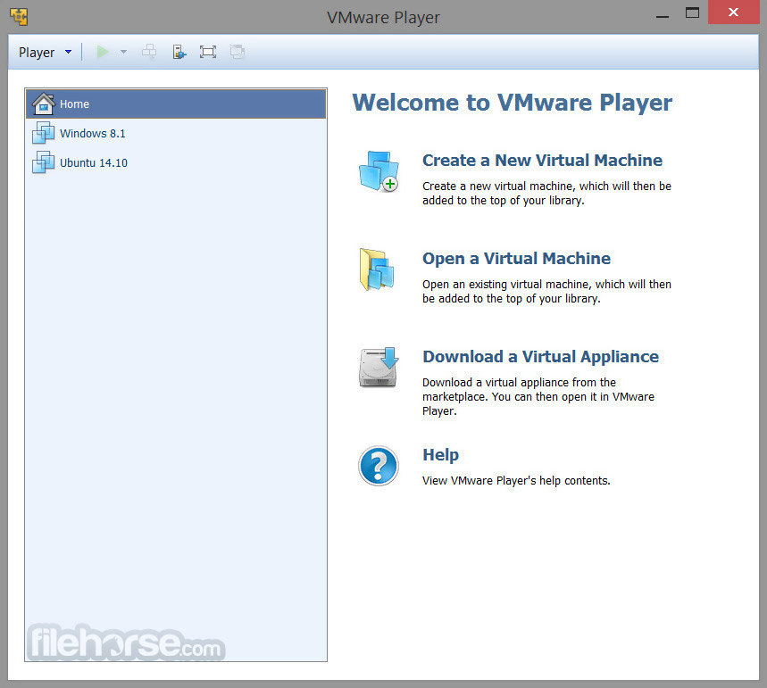 VMware Player 14.1.1 Build 7528167 Captura de Pantalla 1