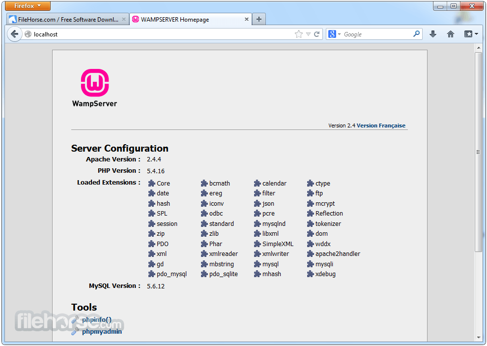 WampServer 3.1.3 (32-bit) Screenshot 1