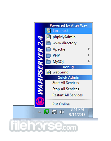 wampserver version 2.5