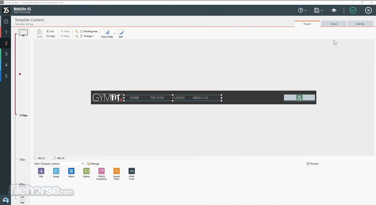 WebSite X5 Evolution 14.0.4.3 Captura de Pantalla 3