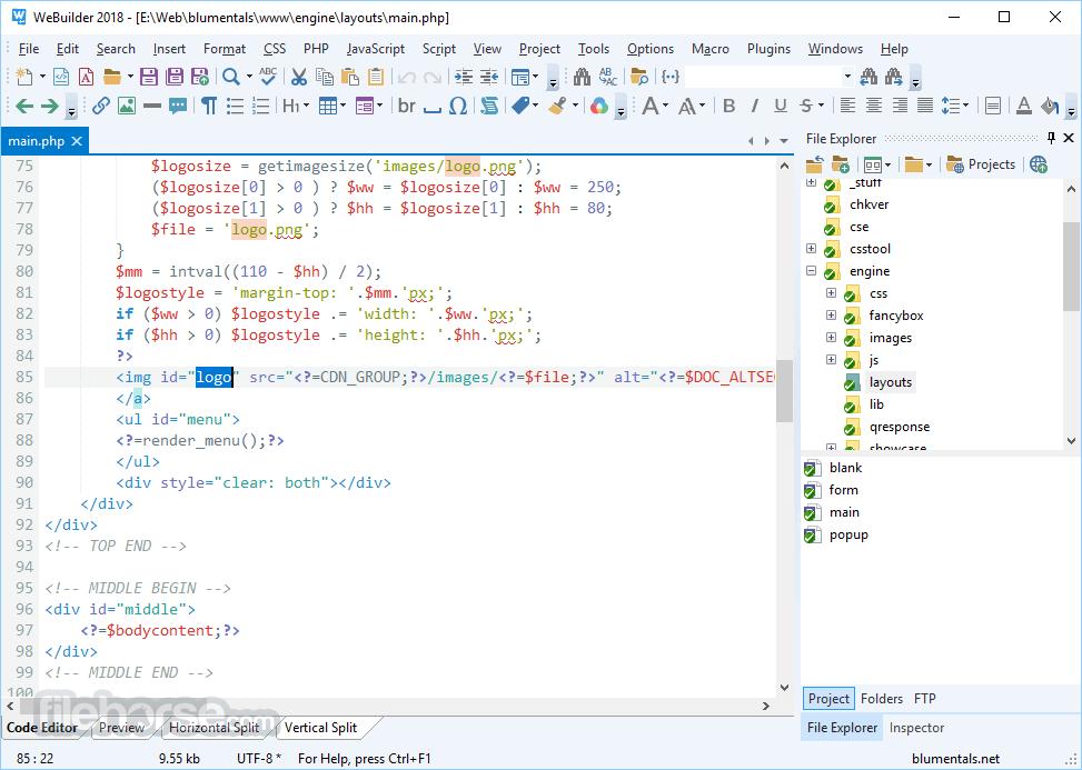 WeBuilder 2018 15.3.0.205 Screenshot 1