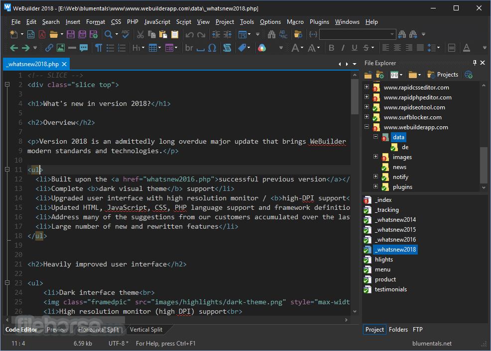 WeBuilder 2018 15.3.0.205 Screenshot 2