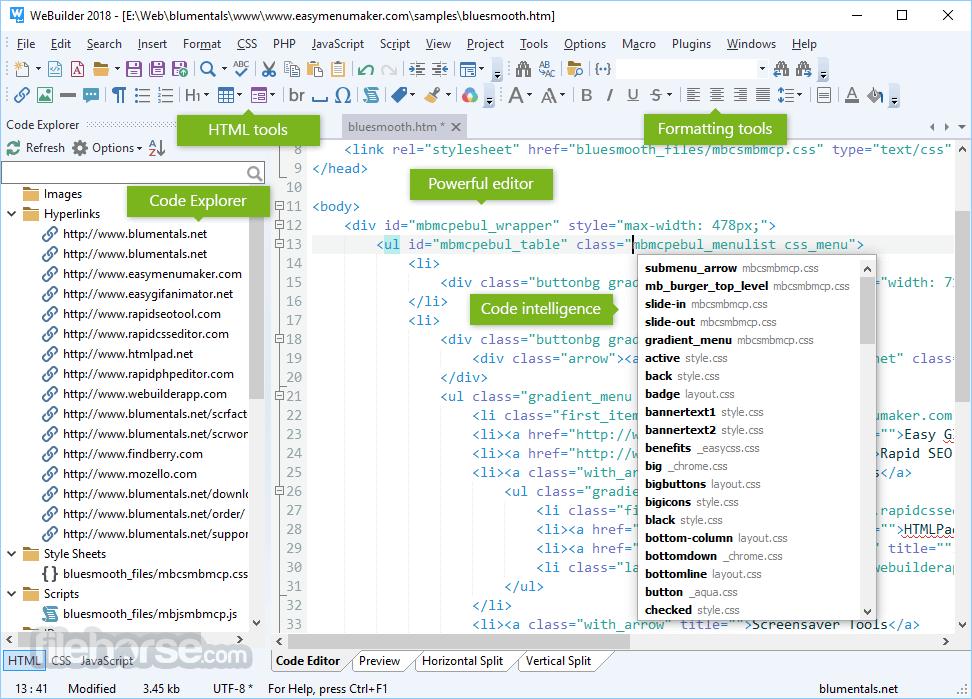 WeBuilder 2018 15.3.0.205 Screenshot 3