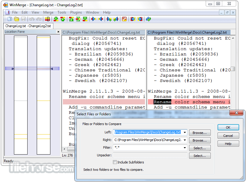 WinMerge 2.15.4 Alpha Screenshot 2