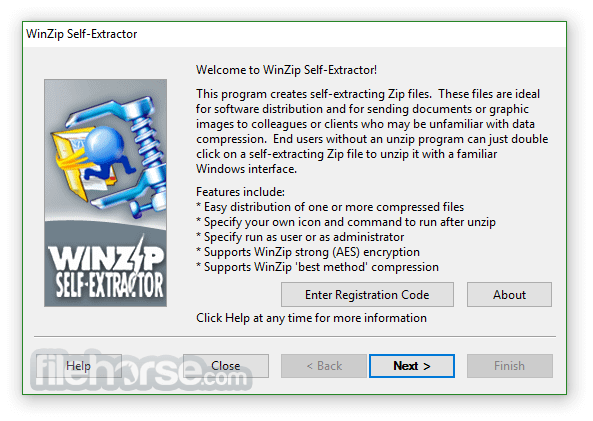 WinZip Self-Extractor 4.0.12218 Captura de Pantalla 1