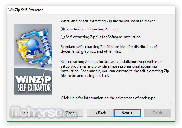 WinZip Self-Extractor 4.0.12218 Captura de Pantalla 2