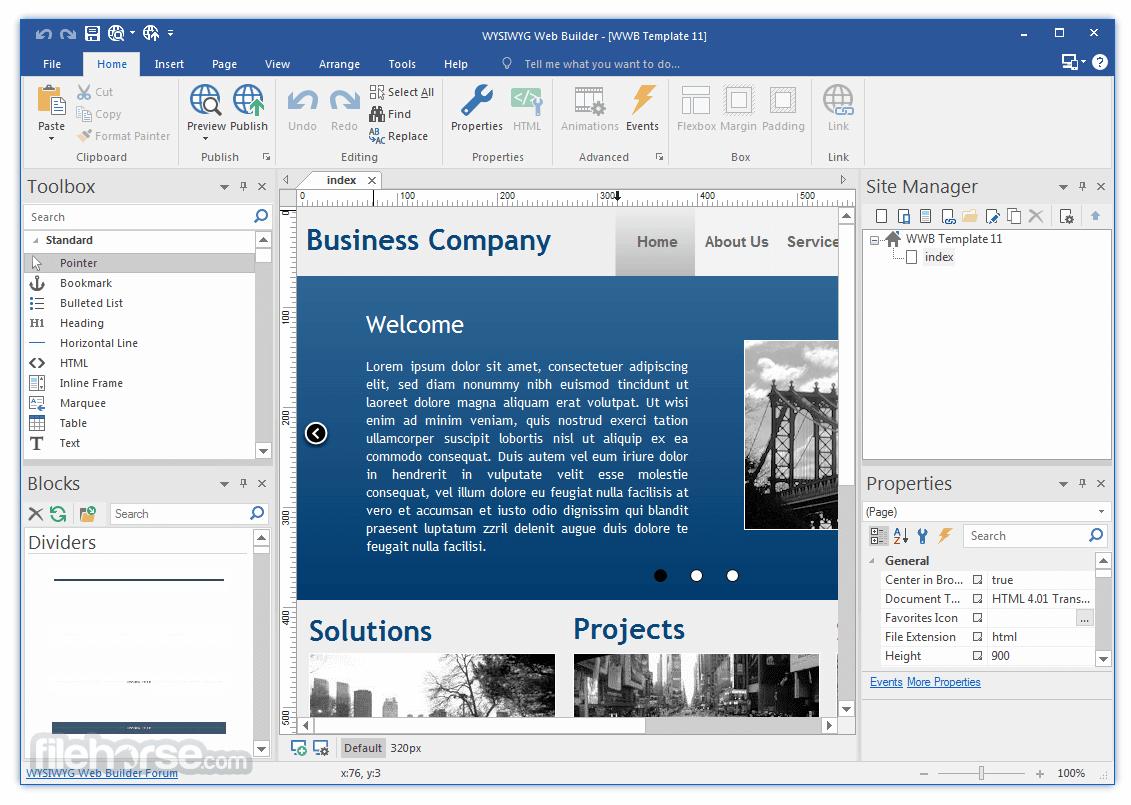 Wysiwyg Web Builder Download 2020 Latest For Windows 10 8 7