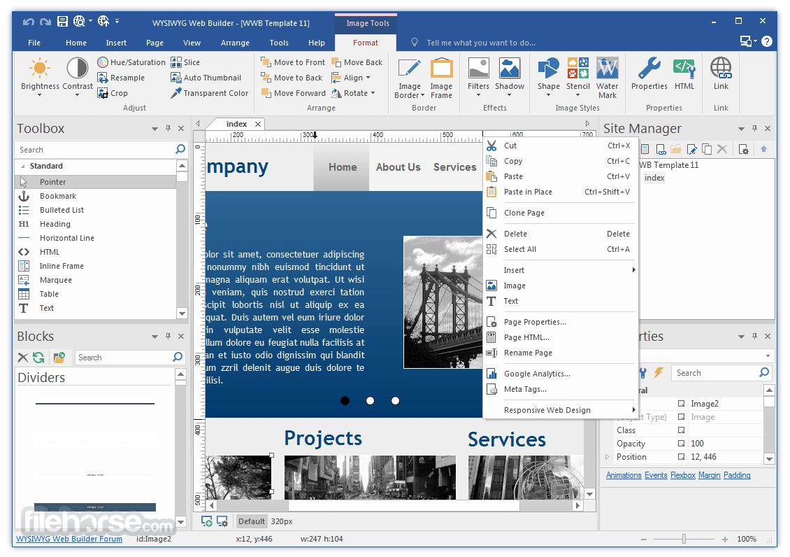 WYSIWYG Web Builder 17.0.0 Screenshot 3