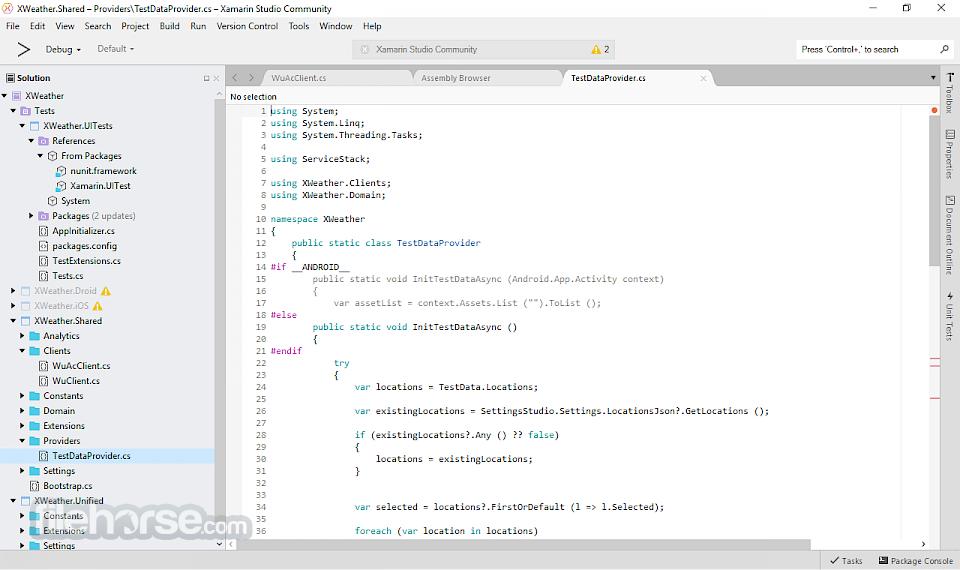 Xamarin Studio 5.10.1 Build 6 Screenshot 1