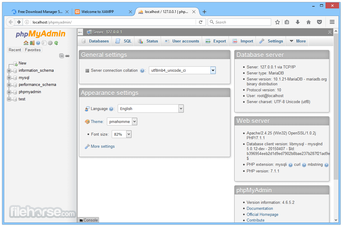 XAMPP 7.2.2 Screenshot 5