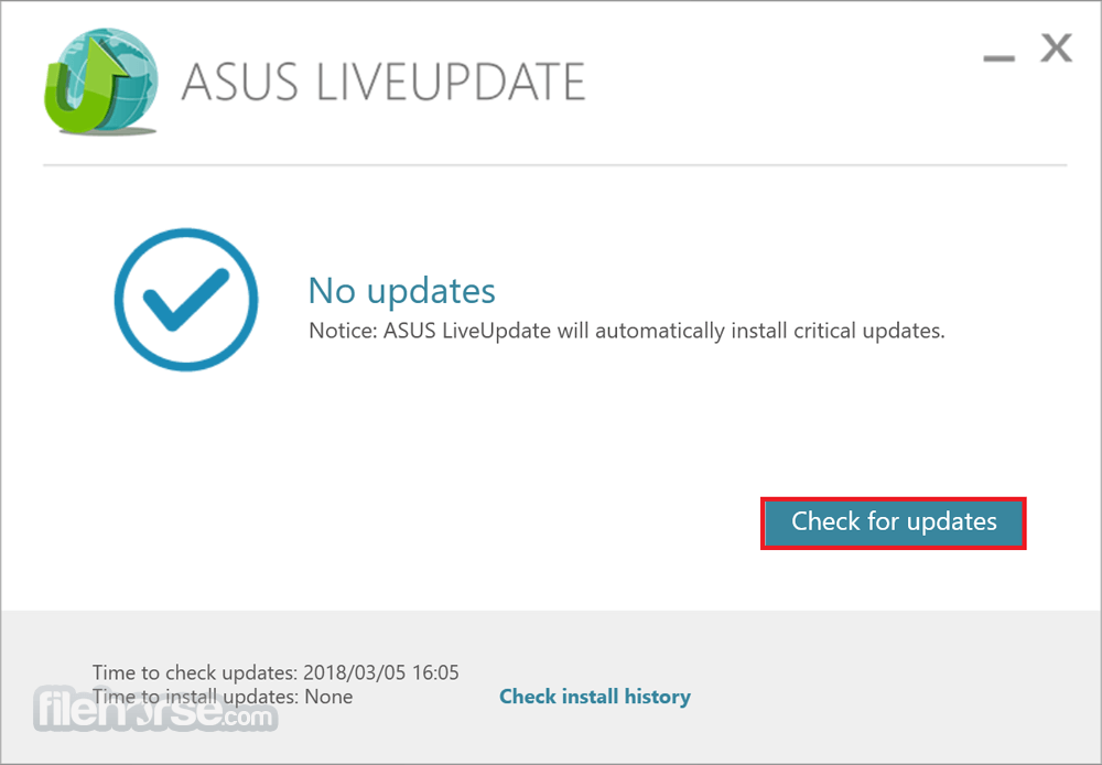 Download  ASUS Live Update for Windows free 2021