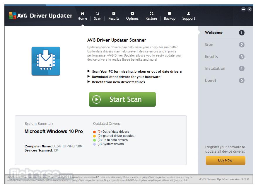 AVG Driver Updater 2.3.0 Screenshot 1