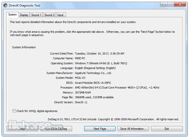 DirectX 9.0c (Jun 10) Screenshot 1