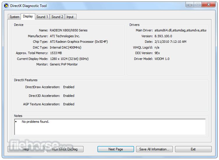 DirectX 9.0c (Jun 10) Screenshot 2