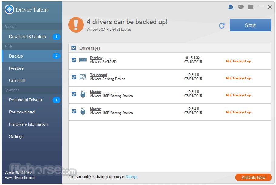 Driver Talent for Network Card 7.0.1.8 Screenshot 2