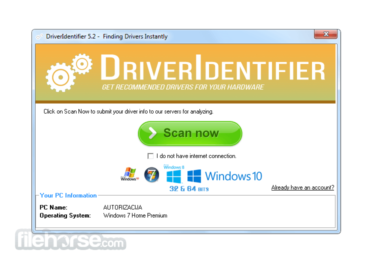 DriverIdentifier 6.0 Screenshot 1