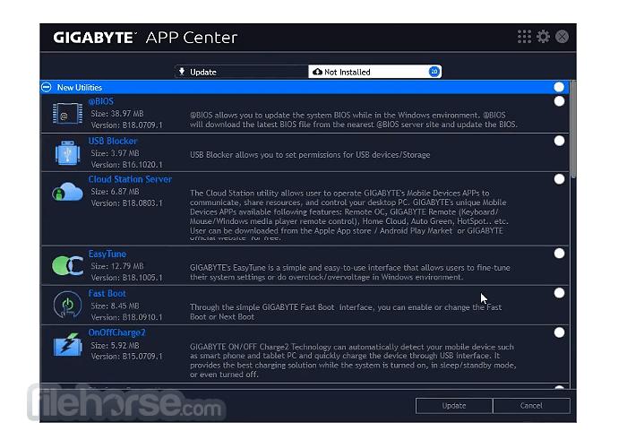 Gigabyte App Center 20.0219.1 Screenshot 2